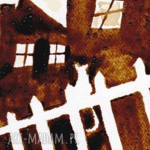 obrazy kawa skrzypek na dachu - obraz kawą