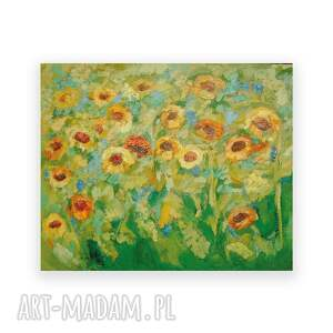 żółte słoneczniki obraz olejny na płótnie