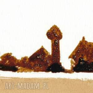 obrazy sowa jeziorna - obraz kawą malowany