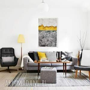 obraz żółte spilled honey, abstrakcja