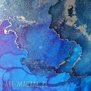 dosalonu niebieskie srebrny koliber -obraz do salonu