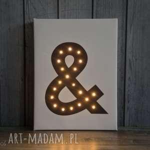 hand-made obrazy litera świecąca dekoracja lampa
