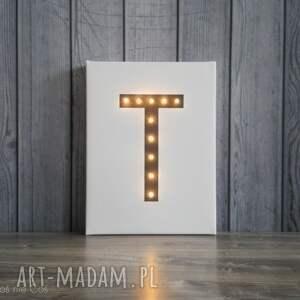 podświetlana obrazy świecąca litera dekoracja lampa