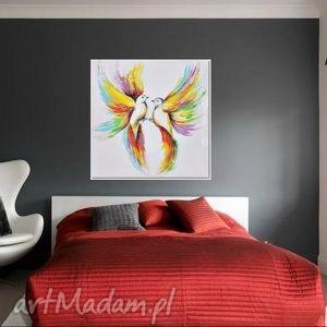 gustowne obrazy obraz tęczowe ptaki, nowoczesny