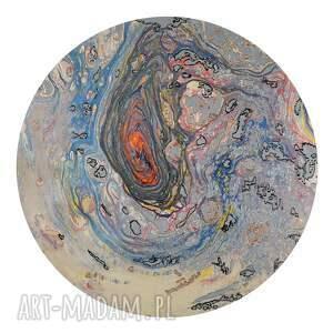 pomarańczowe obrazy planeta tryptyk geograficzny 13