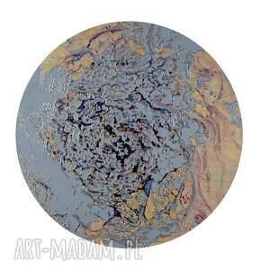 różowe obrazy księżyc tryptyk geograficzny 17