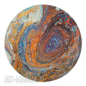 planeta obrazy malowane techniką ebru oraz klasyczną