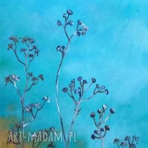 obraz turkusowa łąka - akrylowy