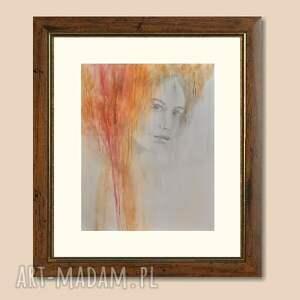 kobieta viedma, obraz ręcznie malowany