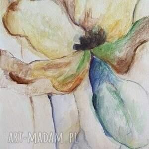 eleganckie obrazy kwiaty w brązach - abstrakcja format 21/28