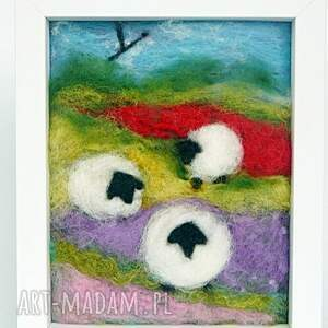 fioletowe obrazy obraz wiosenna łąka. Z kolekcji die