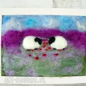 gustowne obrazy owieczka wiosenne pastwisko. Obraz