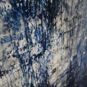 """abstrakcja - """"zamarznięty wodospad"""" - w 100% unikatowy"""