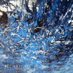 canvas niebieskie zamarznięty wodospad