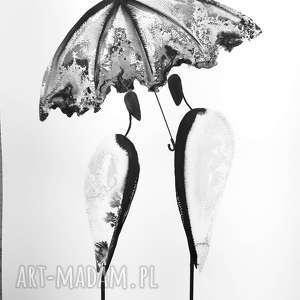 obraz deszcz czarne zamówienie