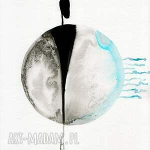 zestaw 2 grafik 30X40 cm wykonanych ręcznie, abstrakcja, minimalizm, obraz obrazy
