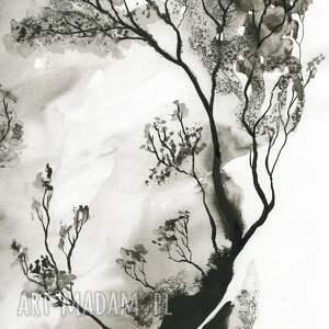 zestaw 2 grafik 50X70 cm wykonanych ręcznie, abstrakcja, elegancki minimalizm grafika artystyczna