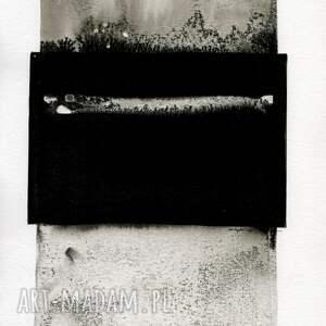 obrazy ręcznie malow białe zestaw 2 grafik 50x70 cm wykonanych