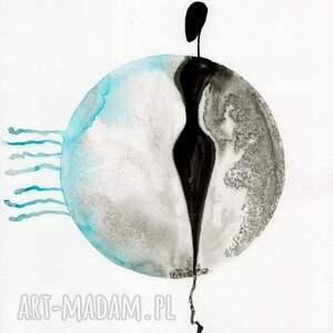 minimalizm turkusowe zestaw 2 grafik 30x40 cm wykonanych