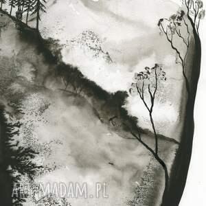 ART Krystyna Siwek zestaw 2 grafik 50X70 cm wykonanych ręcznie, abstrakcja, elegancki minimalizm obraz do sypialni