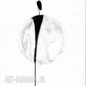 ART Krystyna Siwek zestaw 2 obrazków A4 namalowanych ręcznie, minimalizm, abstrakcja - grafika obraz malowany