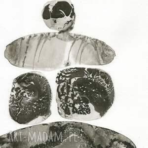 oryginalne abstrakcja obrazy zestaw 3 grafik 30x40 cm wykonanych