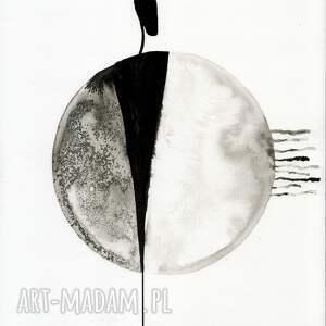 zestaw 3 grafik 30X40 cm wykonanych ręcznie, abstrakcja, elegancki minimalizm obrazy grafiki