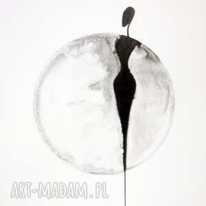 obrazy ręcznie malowane białe zestaw 3 grafik 40x50 cm wykonanych