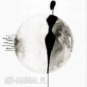 zestaw 3 grafik 30X40 cm wykonanych ręcznie, abstrakcja, elegancki minimalizm grafiki do salonu