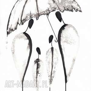 plakat czarno biały białe zestaw 3 grafik białych