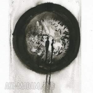 zestaw 4 grafik A4 wykonanych ręcznie, abstrakcja, elegancki minimalizm, obraz obrazy grafiki