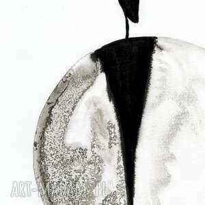 obrazy ręcznie malowane białe zestaw 2 grafik 30x40 cm wykonanych