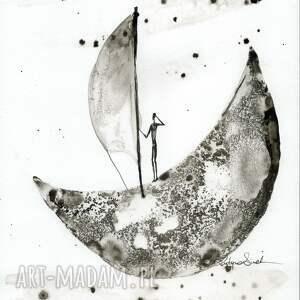 minimalizm obrazy białe zestaw 3 grafik a4 wykonanych