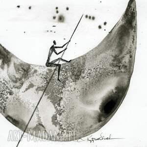 obrazy abstrakcja-obrazy zestaw 3 grafik a4 wykonanych