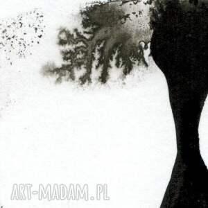obraz-ręcznie-malowany obrazy białe zestaw 2 obrazków a4 namalowanych