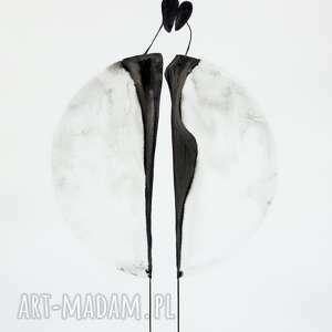 obrazy-ręcznie-malow obrazy białe zestaw 3 obrazów 50 x 70 cm