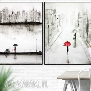 urokliwe obraz ręcznie malowany zestaw 2 obrazów 60 x 80 cm