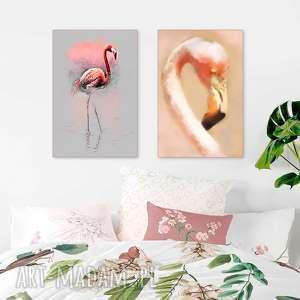 szare zestawy obrazów zestaw 2 obrazy 40 x 60 na płótnie
