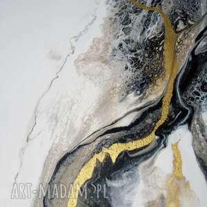 abstrakcja do domu złoty piasek - obraz ręcznie