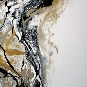 "beżowe obraz abstrakcja ""złoty piasek"" autorstwa anny wójcik"