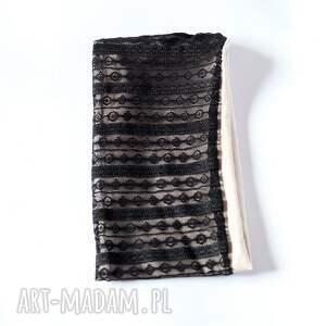 gustowne opaski opaska czarna koronkowa handmade