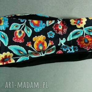 ręcznie robione opaski kolorowy opaska czarna podwójna damska