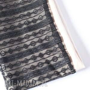czarne opaski opaska czarna koronkowa handmade