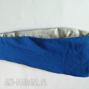 sportowa opaski opaska damska niebiesko szara