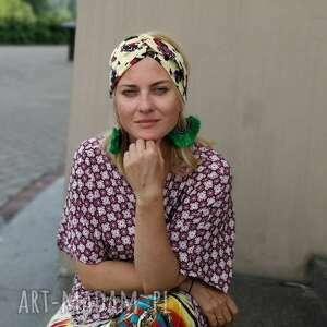 intrygujące opaski kwiaty opaska damska turbanowa folkowa