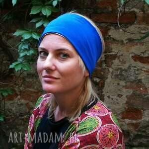 Ruda Klara opaska damska niebiesko szara etno