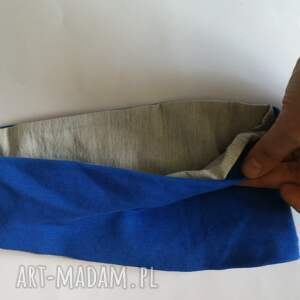 opaska damska niebiesko szara joga