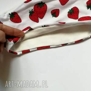 handmade opaski truskawki opaska damska dziewczęca dzianinowa