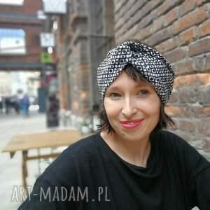 opaski: opaska turban czarno biała retro kolorowa