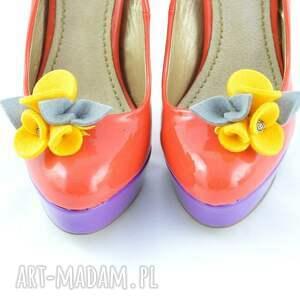 ozdoby do butów filc filcowe przypinki butów-
